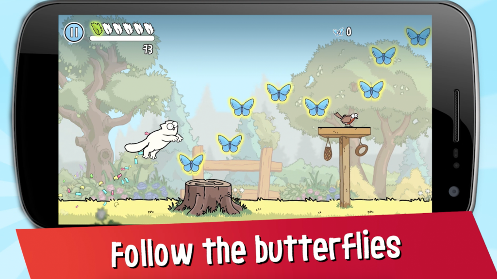 Simon's Cat Game Tips Butterflies