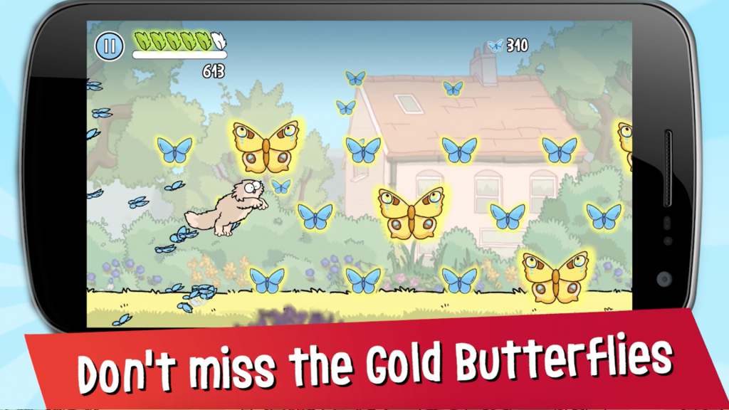 Simon's Cat Game Golden butterflies