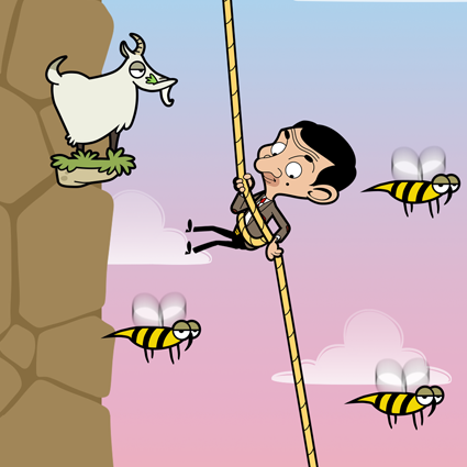 Mr Bean Risky Ropes Climbing